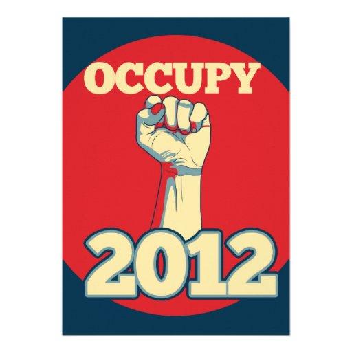 Occupy Movement 2012 Personalized Invitations