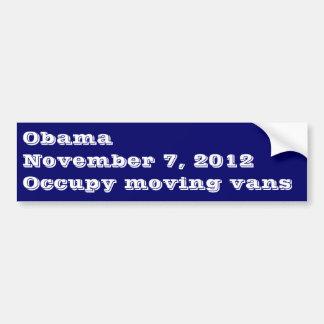 Occupy Moving Vans Obama Bumper Sticker