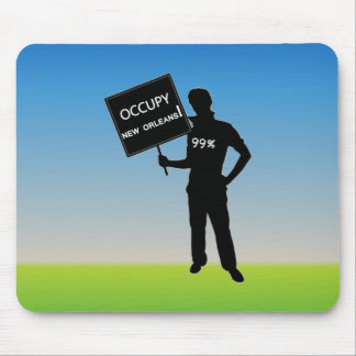 Occupy New Orleans Sign Mouse Pad