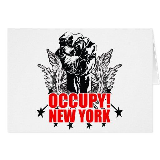 Occupy New York Greeting Card