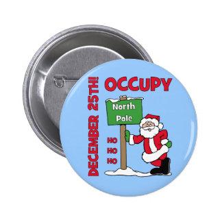 Occupy North Pole Pinback Button