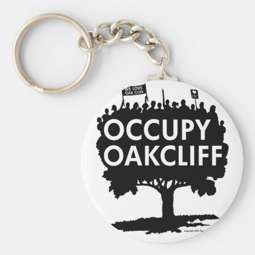 Occupy Oak Cliff - Show your pride! Basic Round Button Keychain
