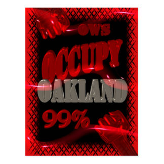 Occupy Oakland OWS protest Occupy wall street Postcard