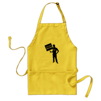 Occupy Oakland Sign Adult Apron