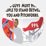 Occupy Obama Classic Round Sticker