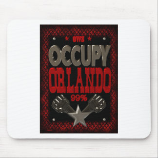 Occupy  Orlando OWS protest 99 strong poster Mouse Pad