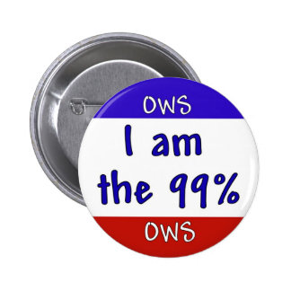 Occupy OWS 99% Button Pin