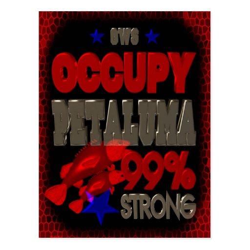 Occupy Petaluma OWS protest 99 strong poster Postcard