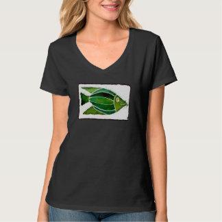 "Occupy Planet Earth ""Batik Green Fish"" T-Shirt"