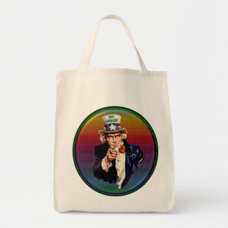 Occupy Planet Earth: Go Green Tote Bag