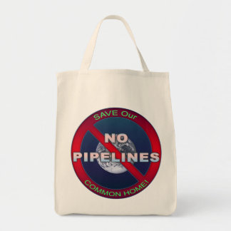 Occupy Planet Earth: 'No Pipelines' Grocery Tote