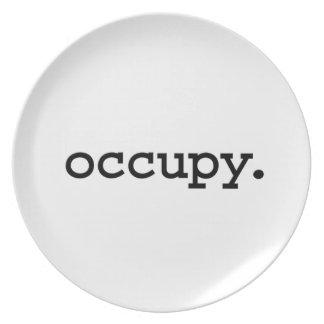 occupy. dinner plates