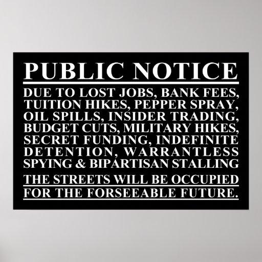 Occupy Public Notice Poster