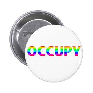 Occupy Rainbow 2 Inch Round Button