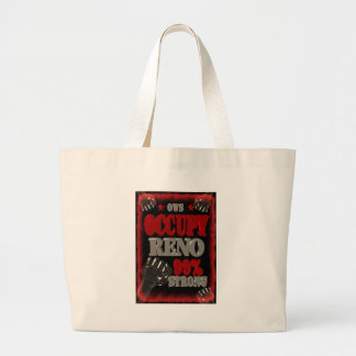 Occupy Reno OWS protest 99 percent strong poster Large Tote Bag