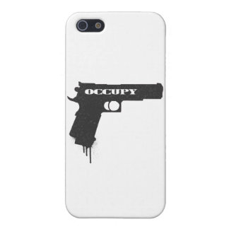 Occupy Rubber Bullet Gun Black Case For iPhone SE/5/5s