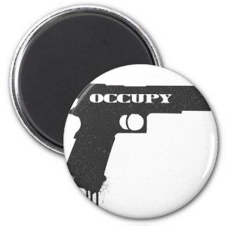 Occupy Rubber Bullet Gun Black Magnet