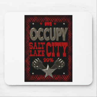 Occupy Salt Lake OWS protest 99 percent strong Mouse Pad