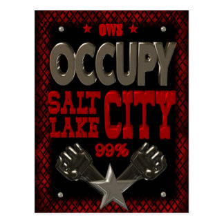 Occupy Salt Lake OWS protest 99 percent strong Postcard