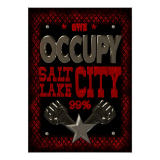 Occupy Salt Lake OWS protest 99 strong poster