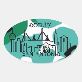 occupy san antonio oval sticker