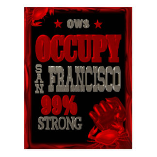Occupy San Francisco OWS protest 99 strong poster Postcard