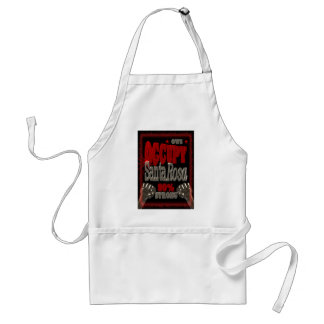 Occupy Santa Rosa OWS protest 99 percent strong Adult Apron