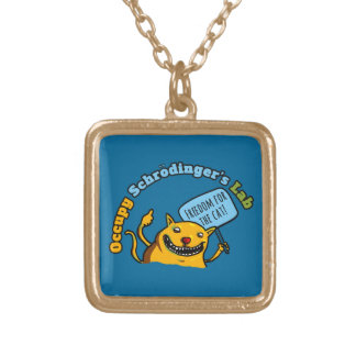 Occupy Schrodinger's Lab Gold Plated Necklace