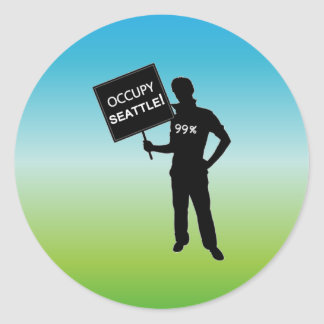 Occupy Seattle Sign Stickers
