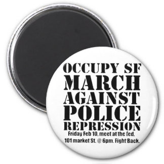Occupy SF March against Police Repression Flyer Magnet