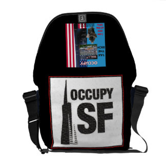 Occupy SF, Occupy Wall Street Rickshaw Messenger B Courier Bag