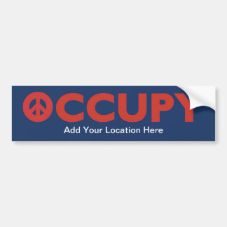 Occupy Sticker Car Bumper Sticker