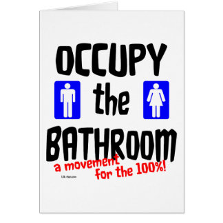 Occupy the Bathroom Cards