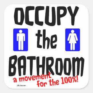 Occupy the Bathroom Square Sticker