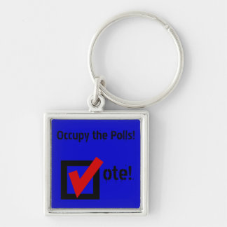 Occupy the Polls! Keychain