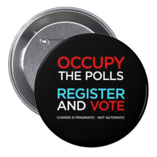 Occupy The Polls Register and Vote Button