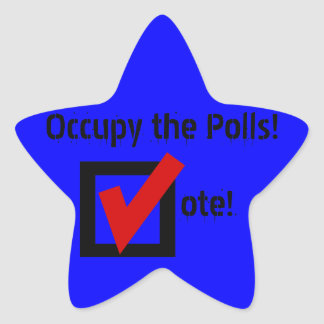 Occupy the Polls! Star Stickers