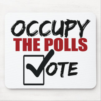 occupy the polls vote mouse pad