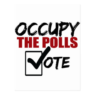 occupy the polls vote postcard