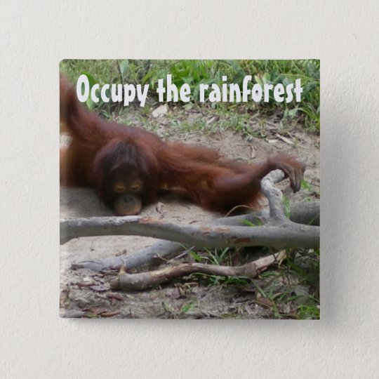 Occupy the Rainforest Pinback Button