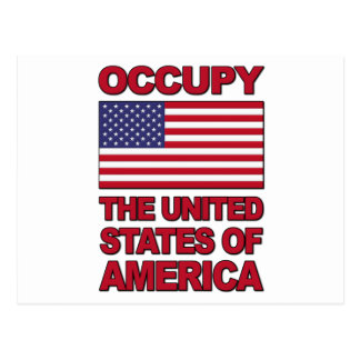 Occupy The United States of America Postcard