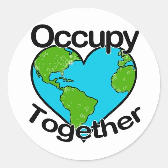 Occupy Together Classic Round Sticker