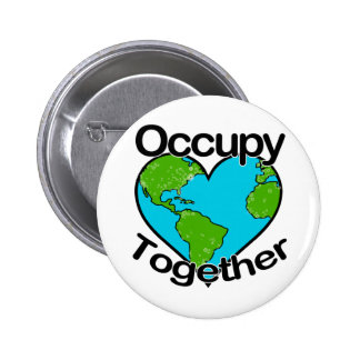 Occupy Together Pinback Button