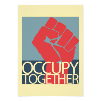 Occupy Together Protest Art Occupy Wall Street Card