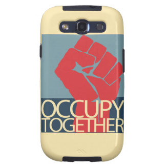 Occupy Together Protest Art Occupy Wall Street Samsung Galaxy SIII Cases