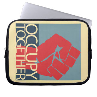 Occupy Together Protest Art Occupy Wall Street Laptop Sleeves
