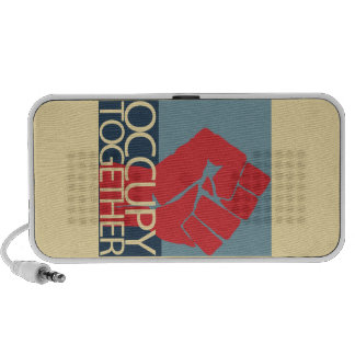 Occupy Together Protest Art Occupy Wall Street Mini Speaker
