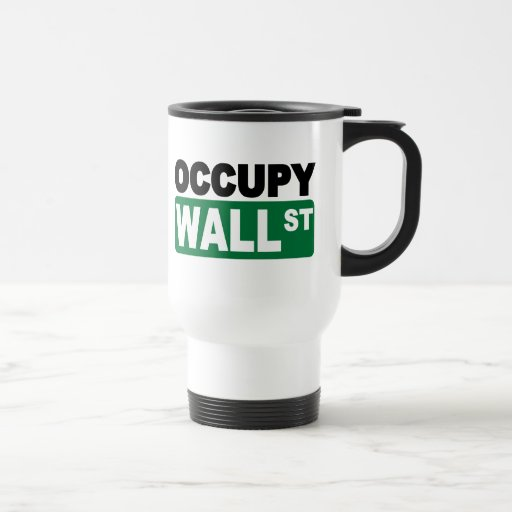 Occupy Wall St. 15 Oz Stainless Steel Travel Mug