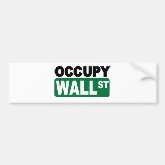 Occupy Wall St. Car Bumper Sticker