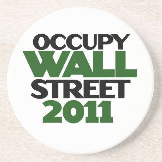 Occupy Wall St Drink Coaster
